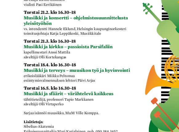 17.1.2013 Tunne orkesterisi -luennolla musiikkianäyttämölle!