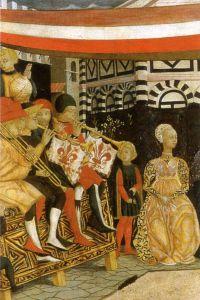 Puhallinyhtye korokkeella ital. renessanssissa