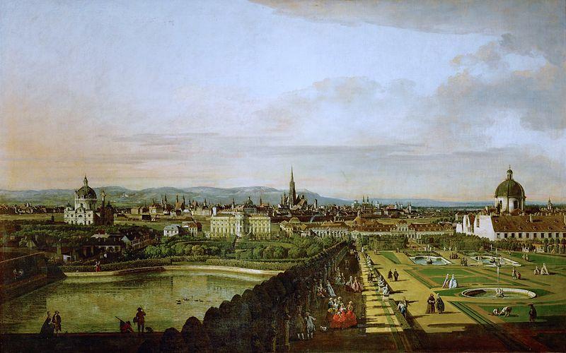 Bernardo Bellotto (1721–1780): Wien, vom Belvedere aus gesehen (1758-1761)
